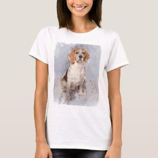 Cute Beagle Watercolor Portrait T-Shirt