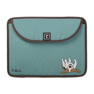 Cute Beagle with Custom Text Sleeve For MacBooks