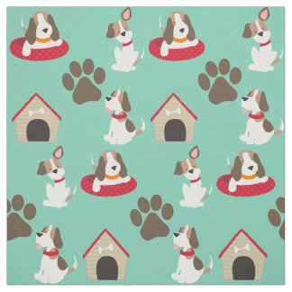 Cute Beagles Fabric