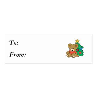 Cute Bear and Christmas Tree Business Card