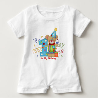 Cute Bear Birthday T-Shirt Age 1