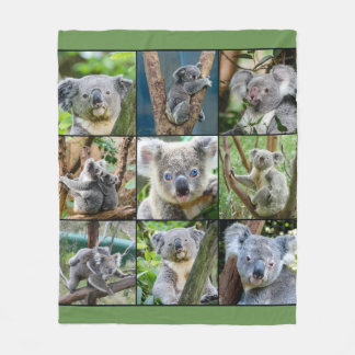 Cute Bear Collage Fleece Blanket