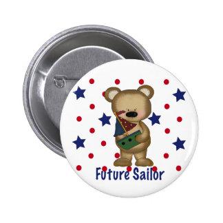Cute Bear Future Sailor Pinback Button