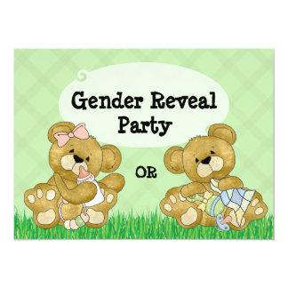 Cute Bear Gender Reveal Party Card