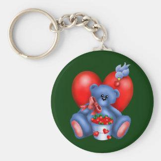 Cute Bear Hearts Keychain 1