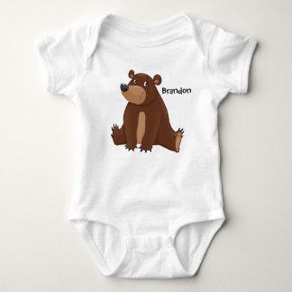 Cute Bear Jersey Sleeper Baby Bodysuit