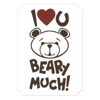 Cute Bear Valentine 5x7 Paper Invitation Card