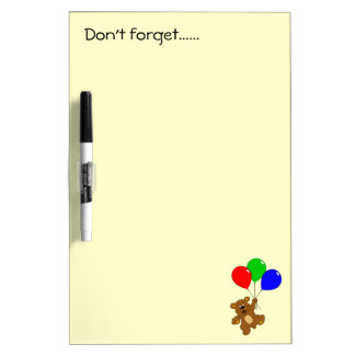 Cute bear with balloons cartoon kids dry erase boards