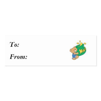 Cute Bear with Huge Honey Pot Business Card Template
