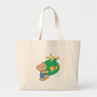 Cute Bear with Huge Honey Pot Jumbo Tote Bag
