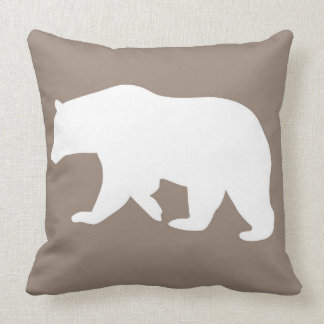 Cute Bear Woodland Animals Throw Pillow