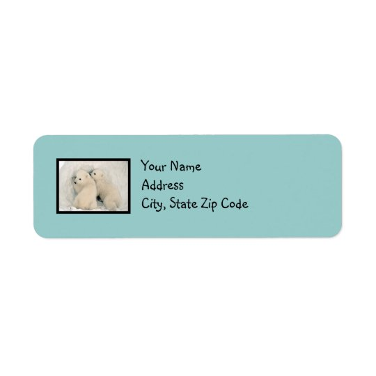 Cute Bears Robin's Egg Blue Address Label