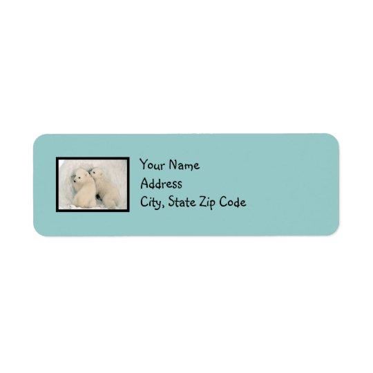 Cute Bears Robin's Egg Blue Address Label