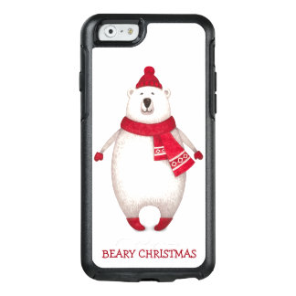 Cute Beary Christmas Funny Quote Polar Bear OtterBox iPhone 6/6s Case