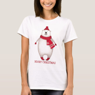 Cute Beary Christmas Polar Bear Funny T-Shirt