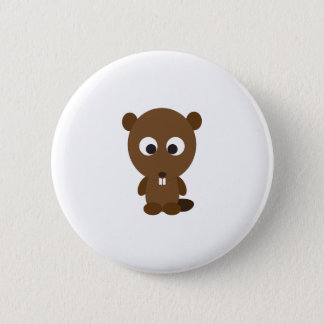 Cute Beaver 6 Cm Round Badge