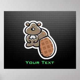 Cute Beaver; Sleek Posters