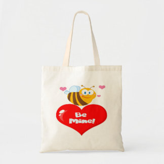 Cute Bee A Red Heart Budget Tote Bag
