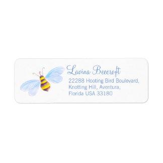 Cute bee art reply address labels