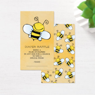 Cute Bee Baby Shower Diaper Raffle Ticket