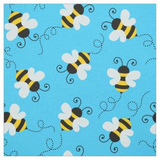 Cute bee / bumblebee pattern fabric. fabric