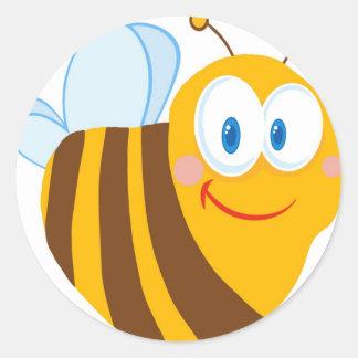 Cute Bee Cartoon Character Stickers