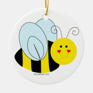 Cute Bee Ceramic Ornament