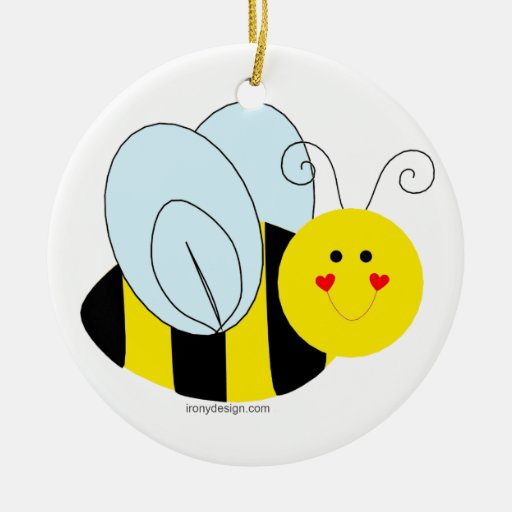 Cute Bee Christmas Ornaments