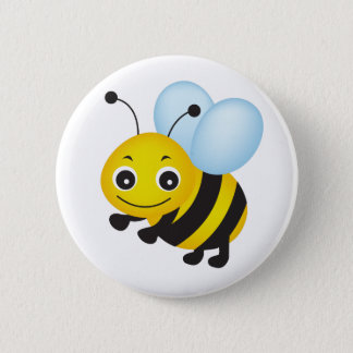 Cute bee design 6 cm round badge