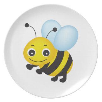Cute bee design dinner plate