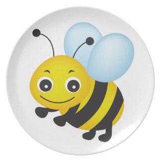 Cute bee design plate