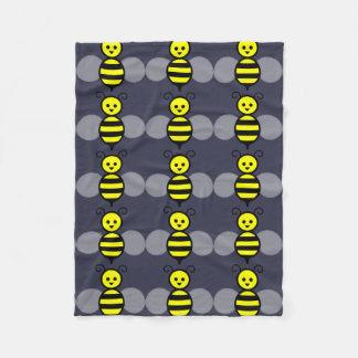 Cute Bee Fleece Blanket