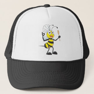 Cute Bee in Chef Outfit Delicious Trucker Hat