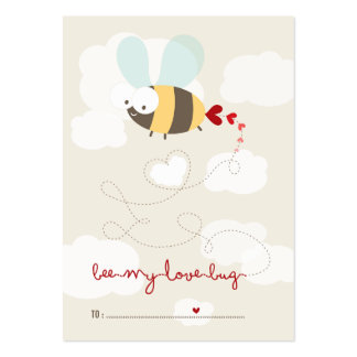 Cute Bee Mine Classroom Kids Valentine Photo Card Pack Of Chubby Business Cards