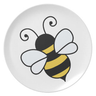 Cute bee party plates