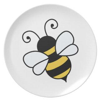 Cute bee plate