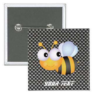 Cute Bee; Sleek 15 Cm Square Badge
