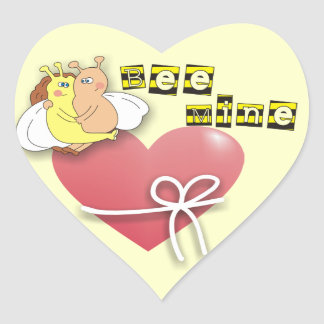 Cute Bees in Love Valentine's Day Stickers