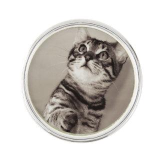 Cute Bengal Kitten Photo Lapel Pin