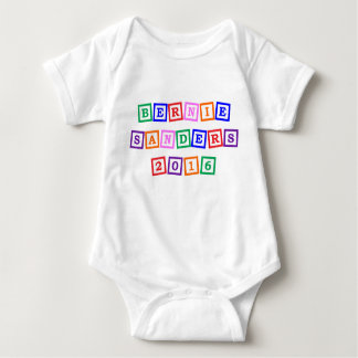Cute Bernie Sanders 2016 Alphabet Blocks Baby Bodysuit