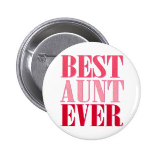 Cute Best Aunt Ever Pink Text 6 Cm Round Badge
