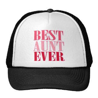 Cute Best Aunt Ever Pink Text Cap