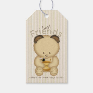 Cute Best Friends Honey Bear And Bee Gift Tags