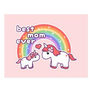 Cute Best Unicorn Mom Ever Postcard