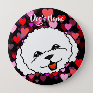 Cute Bichon Frise 10 Cm Round Badge
