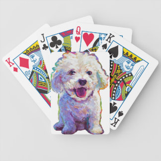 Cute Bichon Frise Bicycle Playing Cards