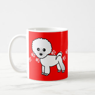Cute Bichon Frise Cartoon Coffee Mug