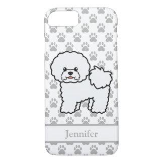 Cute Bichon Frise Cartoon Dog & Personalized Name iPhone 8/7 Case