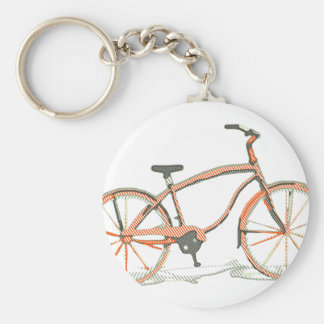 Cute bicycle key ring