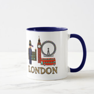 Cute Big Ben London Monogrammed Mug